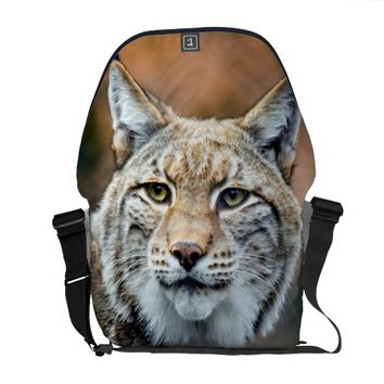 Lynx Bobcat Wildlife Predator Cat Courier Bag
