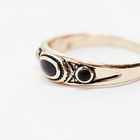Double Stone Ring in Gold - Urban Outfitters