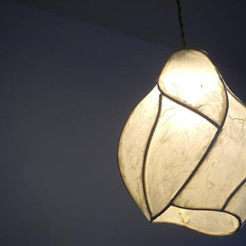 Hanging Pendant Chandelier Lighting - The Firefly - Copper and Handmade Paper Lantern - Custom Made-to-Order