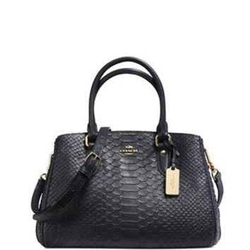 Coach Mini Empire Carryall in Stamped Snakeskin Leather