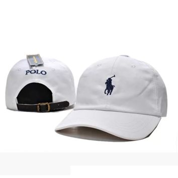 White Polo Embroidered Baseball Caps Hat