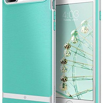 iPhone 7 Plus Case / iPhone 8 Plus Case, Caseology [Wavelength Series] Slim Protective Textured Grip Drop Protection for Apple iPhone 7 Plus (2016) / iPhone 8 Plus (2017) - Mint Green