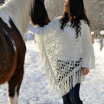 Butterfly Breeze Poncho Crochet Pattern pdf