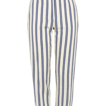 Stripe Ruffle Peg Trousers | Topshop