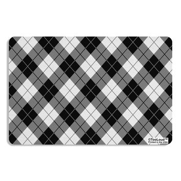 Black and White Argyle AOP Placemat All Over Print by TooLoud