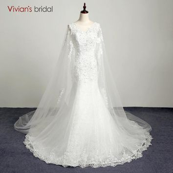 Bridal Country Western Wedding Dresses Beaded Cap Sleeve Lace Mermaid Wedding Gown