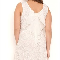 Plus Size Lace Skater Dress with Tank Straps