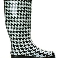 OwnShoe Women's Fashion Rain Boots Multiple Styles Available Waterproof (8, Houndstooth)