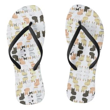 Patterns Cat Flip Flops