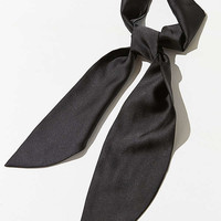 Silky Wrap Neck Tie Scarf   Urban Outfitters