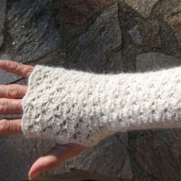 Winter Mittens fingerless gloves crocheted warmers knitted crochet wool lace alpaca steampunk victorian crochet wedding bridal cuffs