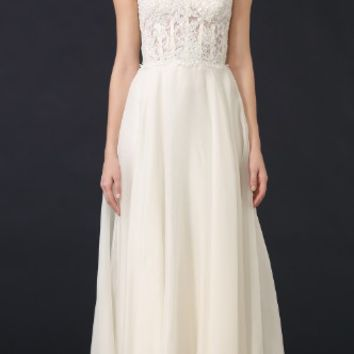 Alia Strapless Lace Gown