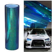 30*200CM Colorful Transparent Car Stickers Strong Self-Adhesive SUV Headlight Taillight Vinyl Film Car Stickers Accessories