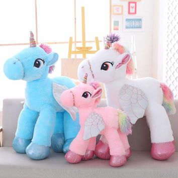 Unicorn Plush Toy 60CM 90CM Stuffed Animal Soft Doll Pink White Unicorn Doll Home Decor Kids Toys Birthday Gift For Girl