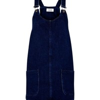 Blue Dark Wash Denim Pinafore Dress | New Look