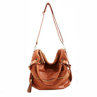 New Tassel Brown Handbag &Shoulder Bag-for girl