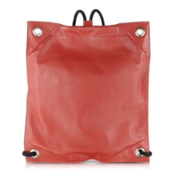 MM6 Maison Martin Margiela Designer Handbags Red Grained Leather Backpack