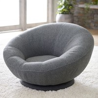 Tweed Groovy Swivel Chair