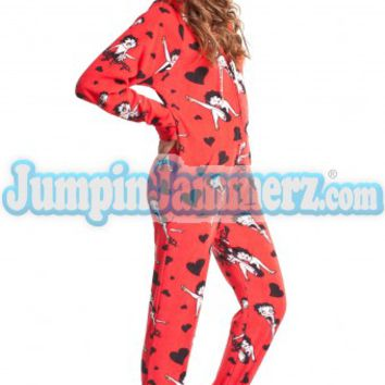 Betty Boop Pajamas Footie PJs Onesuits One Piece Adult Pajamas