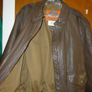 Mens Leather Cooper A-2 US Air Force Goatskin Leather Bomber Jacket