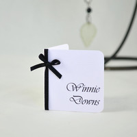 Black and White Wedding Place Card - Large Print Wedding Place cards - Mini Place Cards