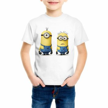 Boy/girl hot sale Summer Despicable Me 2 cool kawaii t-shirt Minions funny t shirt brand new cartoon minions t-shirt C18-42