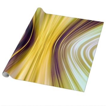 Sea Shell Yellow Moon Dreams Wrapping Paper