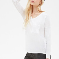 Dropped-Sleeve Pocket Top