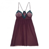 Only Hearts Tulle with Lace Racerback Chemise