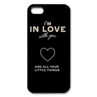 BestElec One Direction Quotes for iPhone 5 Case Hard Plastic for iPhone 5 Case