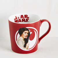 The Em-Pourer Strikes Back Mug in Leia | Mod Retro Vintage Kitchen | ModCloth.com