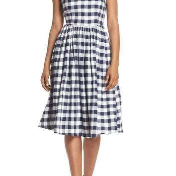 BB Dakota Matie Gingham Midi Dress | Nordstrom