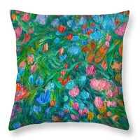 Dream Flowers Throw Pillow for Sale by Kendall Kessler