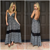 Black & White Havanna Nights Maxi Dress