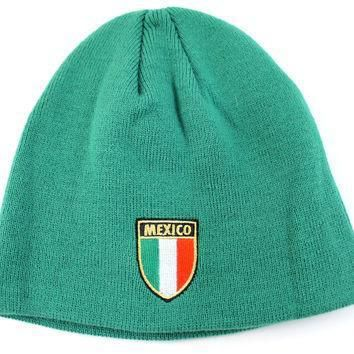 puma unisex adult country mexico green world cup beanie hat  number 1