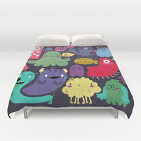 Colorful creatures Duvet Cover by Maria Jose Da Luz