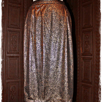 Sexy Starlet 80's Gold Metallic Pencil Skirt