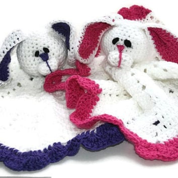 Baby bunny blankie baby lovey Easter bunny baby gift made to order