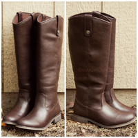SZ 5.5 Alexander Riding Club Brown Riding Boots