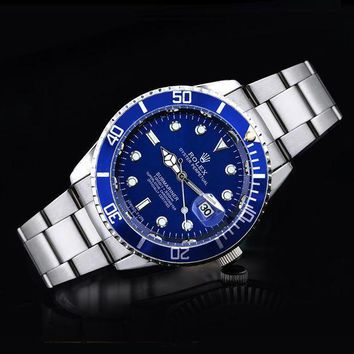 GJ1A Rolex tide brand fashion men and women fashion watches F-SBHY-WSL Silver + Blue Case + Blue Dial