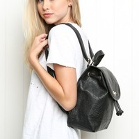 FAUX-LEATHER BACKPACK