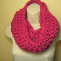 Hot Pink Cowl Infinity Circle Scarf Neckwarmer