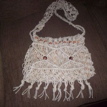 Hemp Yarn  Macrame Hippie Purse