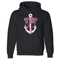 """Zexpa Apparelâ""""¢ Anchored in Hope Unisex Hoodie Breast Cancer Awareness Month Hooded Sweatshirt"""
