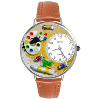 Artist Watch in Silver (Large)