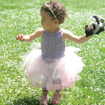 Fields of Lavender Luxury Silk Heart Shaped Tutu by Solandia