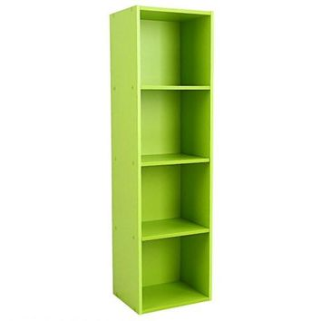 3/4 Shelf Wood Bookcase Storage Home Office Bedroom Furniture Bookshelf