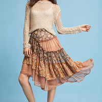 Patchwork Asymmetrical Skirt