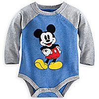 Mickey Mouse Vintage Disney Cuddly Bodysuit