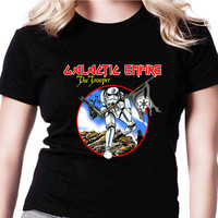 Galactic Empire The Trooper Stormtrooper Star Wars HND Womens T Shirts Black And White